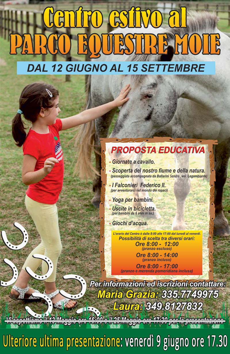 Centri Estivi 2017 Associazione Equestre Vallesina - Moie (AN)